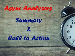 Async code smells and how to track them down with analyzers - Summary