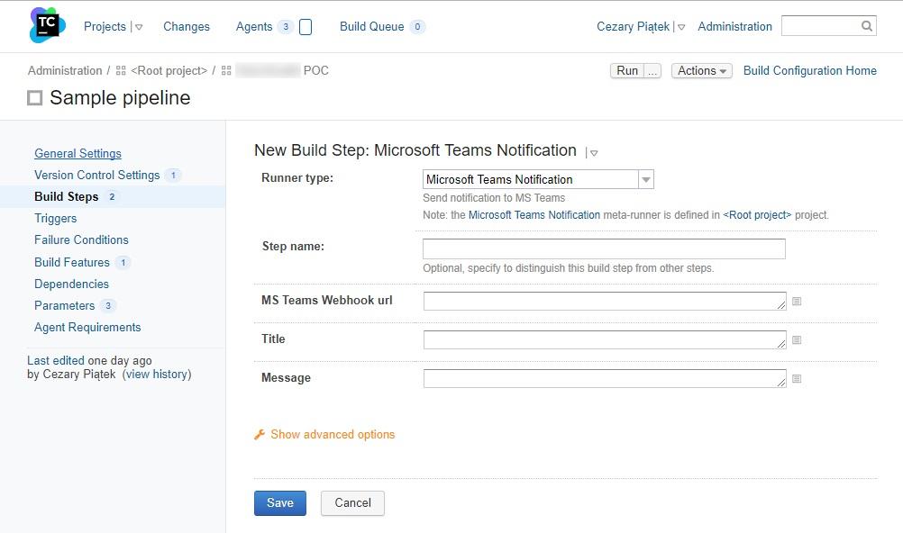 Integrating TeamCity with Microsoft Teams using PowerShell · Cezary